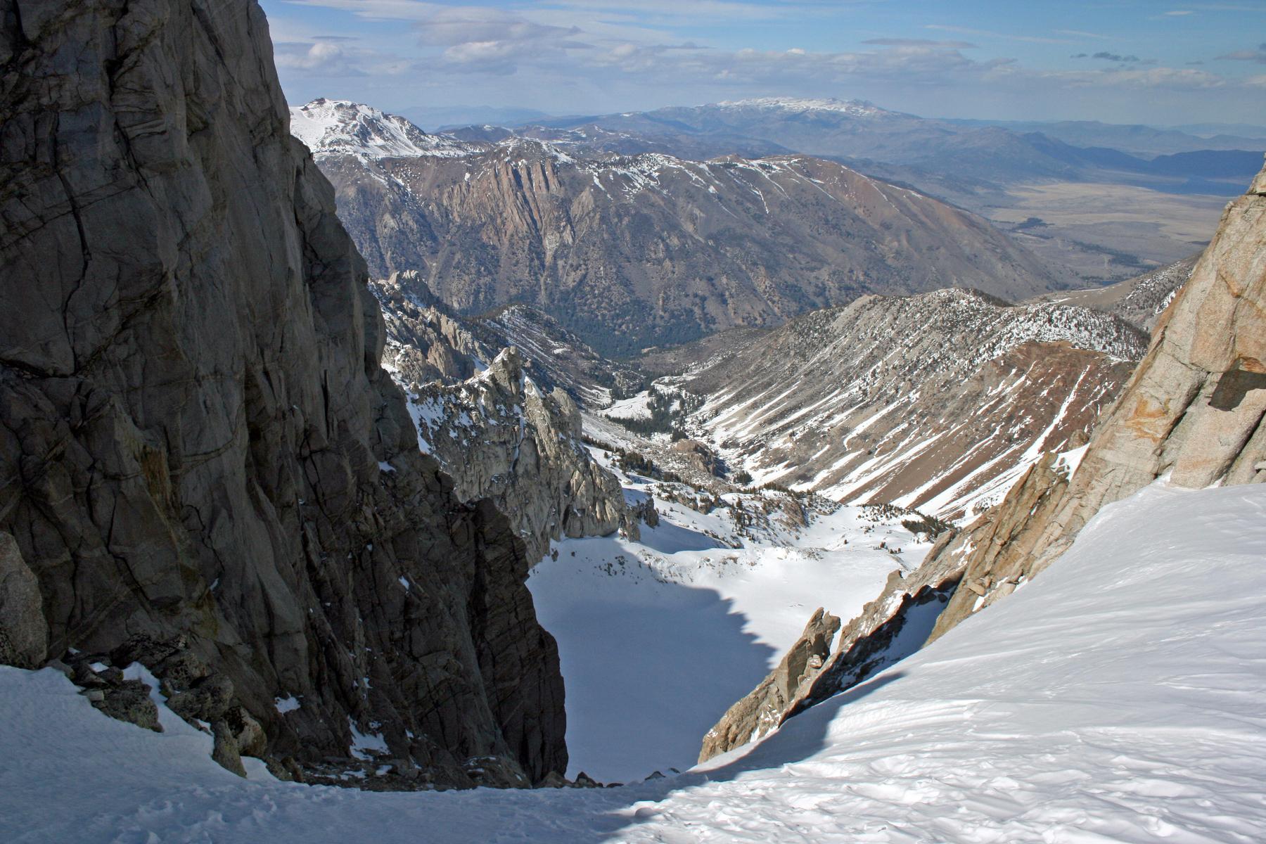 classic ski line in the eastern Sierra, California