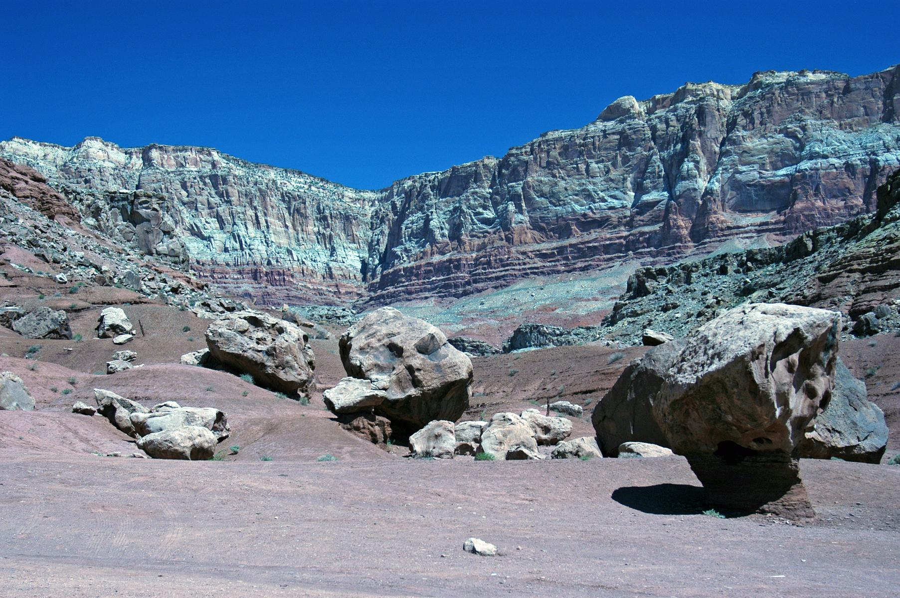 striated sandstone of Vermillion Cliffs, northern Arizona