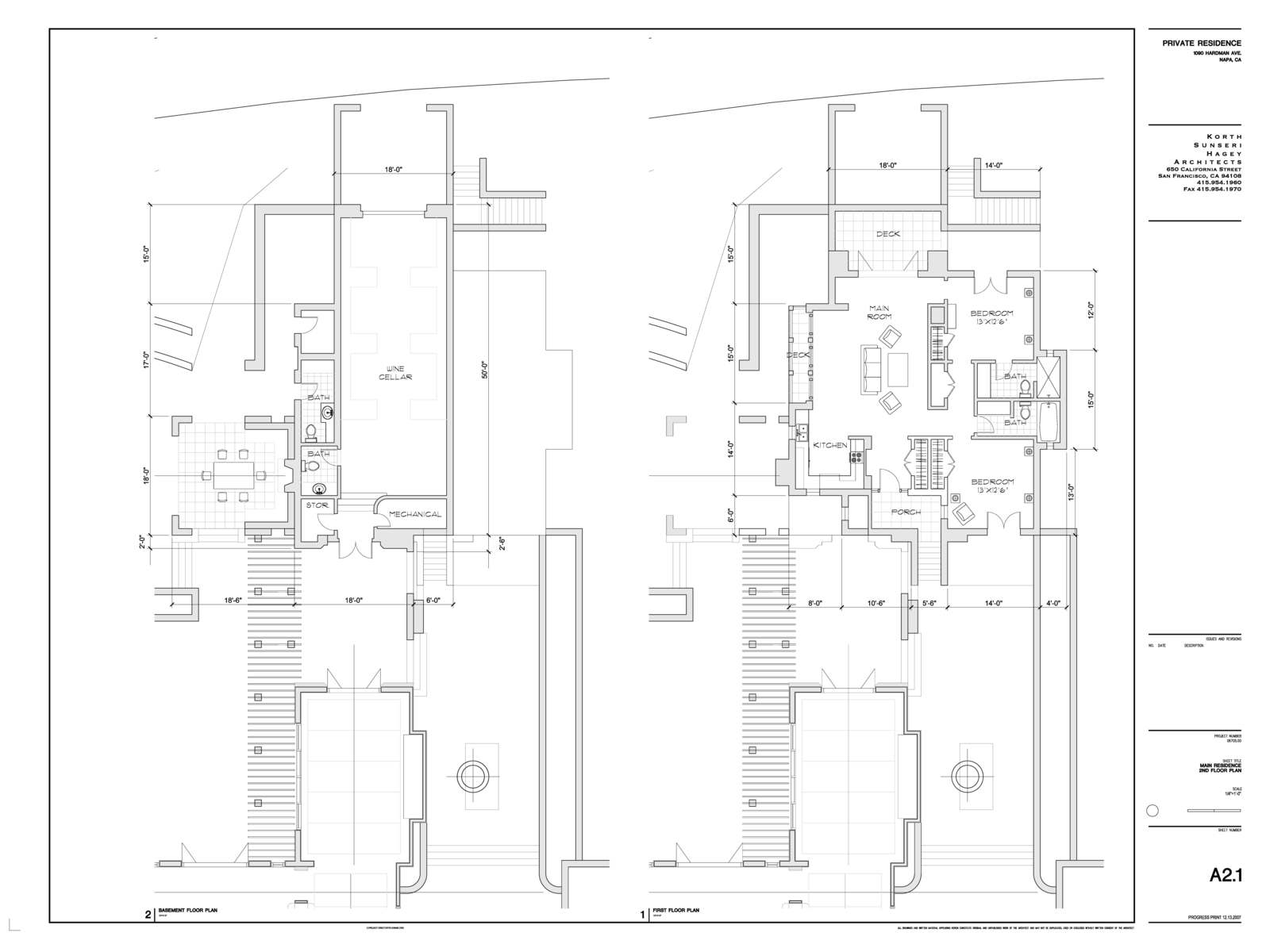 Benz residence napa ca katy candau portfolio for Drawing packages